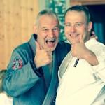 Achim Hanke und JCR-Trainer Robert Kühn